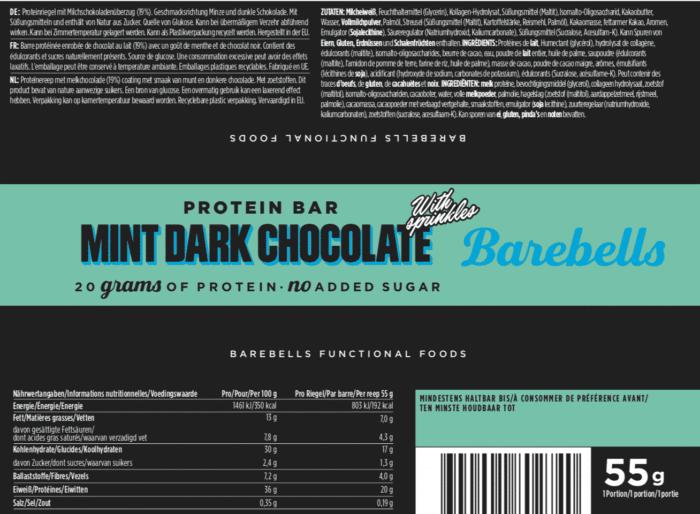 Barebells - Riegel - MINT DARK CHOCOLATE - Protein Bar 2