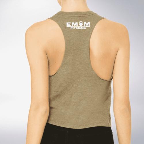 White EMOM Fitness - Crop Top - Oliv 3