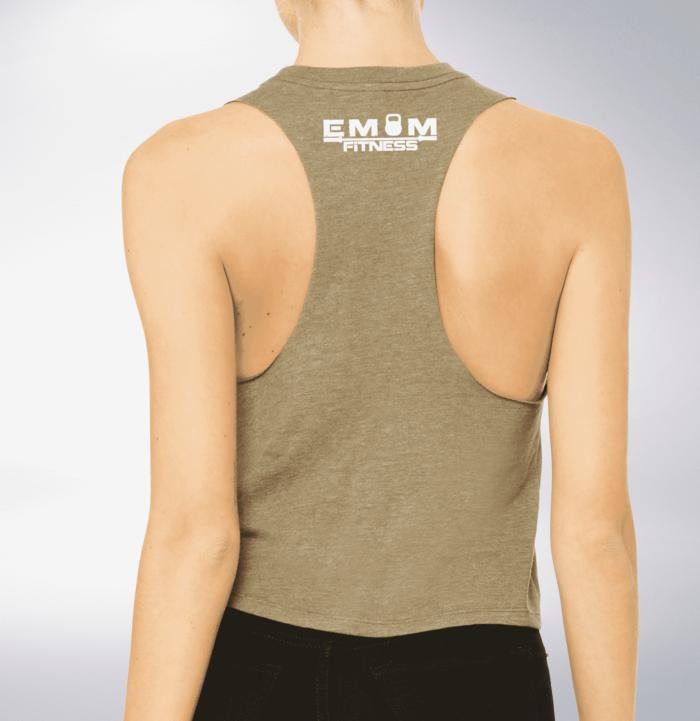 White EMOM Fitness - Crop Top - Oliv 2