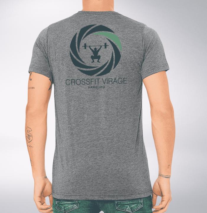 Crossfit© Virage T-Shirt für Herren - Logo vorne & hinten 2