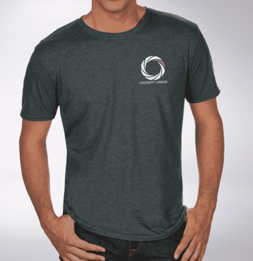 Crossfit© Virage T-Shirt für Herren - Dark Grey - Logo vorne & hinten 1