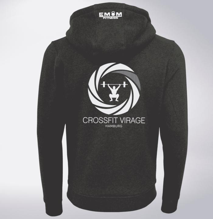 Crossfit© Virage Unisex ZIP Hoody - Logo vorne & hinten 2