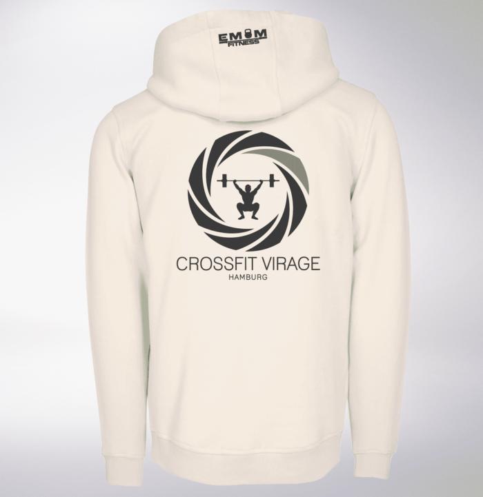 Crossfit© Virage Unisex Hoody Sand - Logo vorne & hinten 2