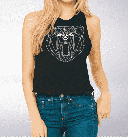 White Bear - Crop Top - Schwarz 1