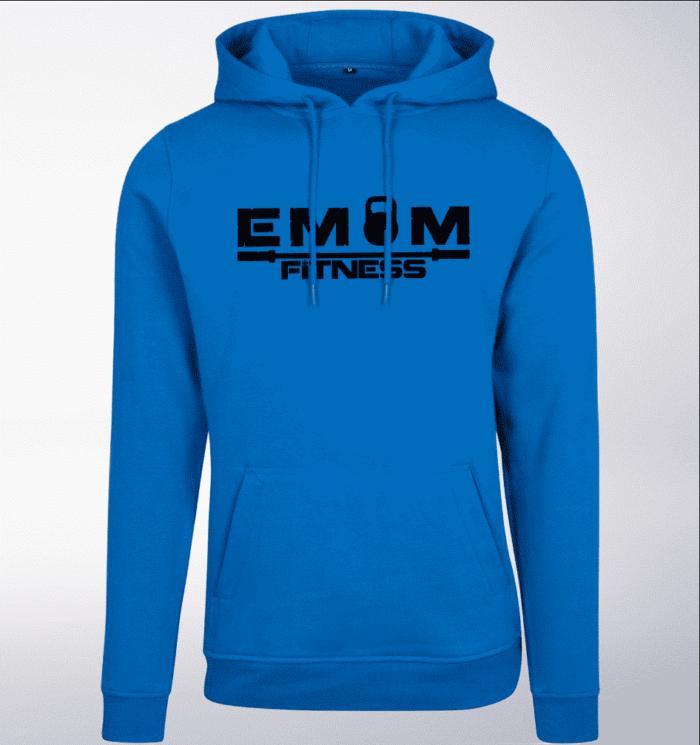Black - EMOM Fitness Unisex- PremiumHoody - Cobalt Blue 1