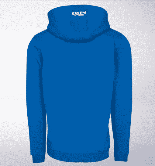 White - WOD THE FUCK Unisex- PremiumHoody - Cobalt Blue 2