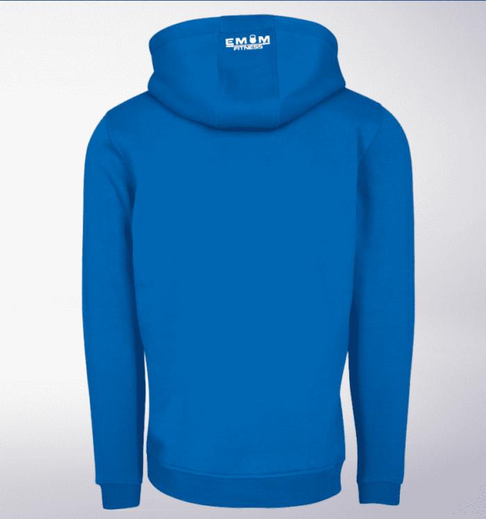 White - EMOM Fitness Unisex- PremiumHoody - Cobalt Blue 2