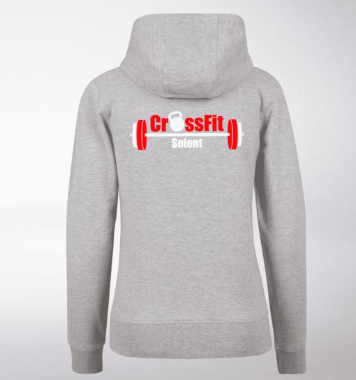 CrossFit®Selent ZIP Hoody für Damen Grey - Logo hinten&hinten 2