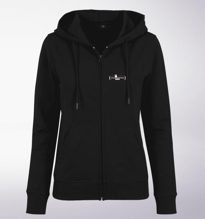 CrossFit®Selent ZIP Hoody für Damen Schwarz - Logo vorne&hinten 2