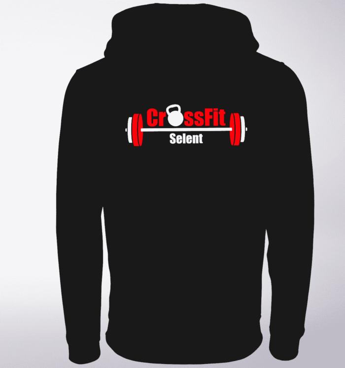 CrossFit®Selent UNISEX Zipper für Herren und Damen - Schwarz - Logo hinten&vorne 1