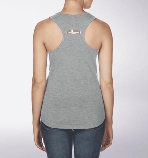 CrossFit®Selent RacerbackTank für Damen Grey - Logo vorne&hinten 2