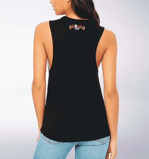 CrossFit®Selent Loose Muscle Tank für Damen Schwarz - Logo vorne&hinten 2