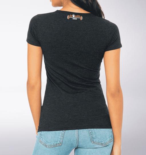 CrossFit®Selent T-Shirt für Damen Charcoal - Logo vorne&hinten 2