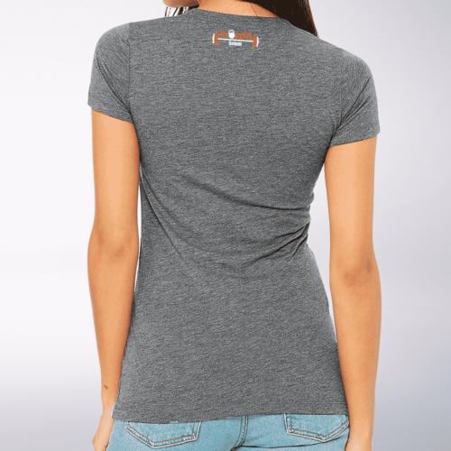 CrossFit®Selent T-Shirt für Damen Grey - Logo vorne&hinten 3