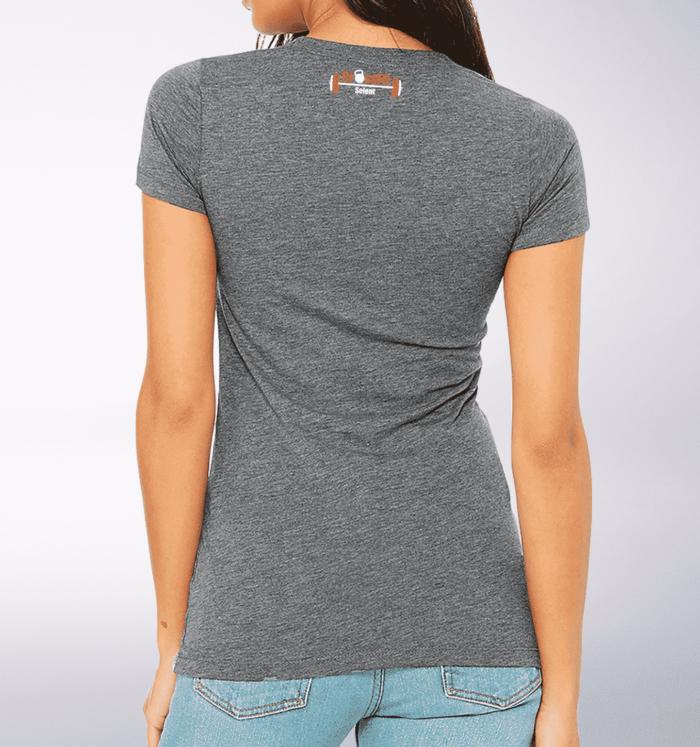 CrossFit®Selent T-Shirt für Damen Grey - Logo vorne&hinten 2