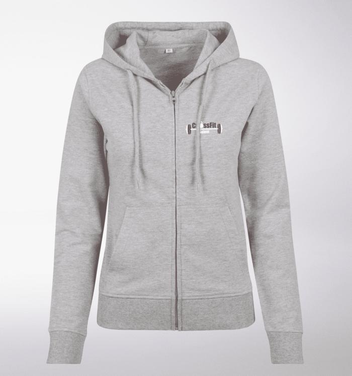 CrossFit®Selent ZIP Hoody für Damen Grey - Logo hinten&hinten 1