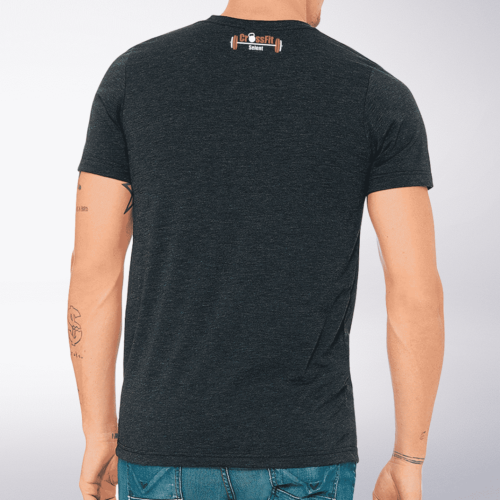 CrossFit®Selent T-Shirt für Herren Charcoal - Logo vorne&hinten 3