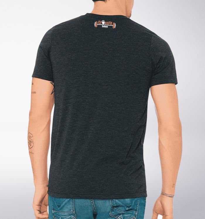 CrossFit®Selent T-Shirt für Herren Charcoal - Logo vorne&hinten 2
