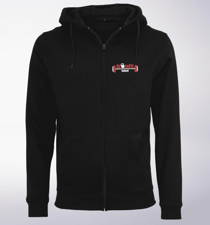 CrossFit®Selent UNISEX Zipper für Herren und Damen - Schwarz - Logo hinten&vorne 2