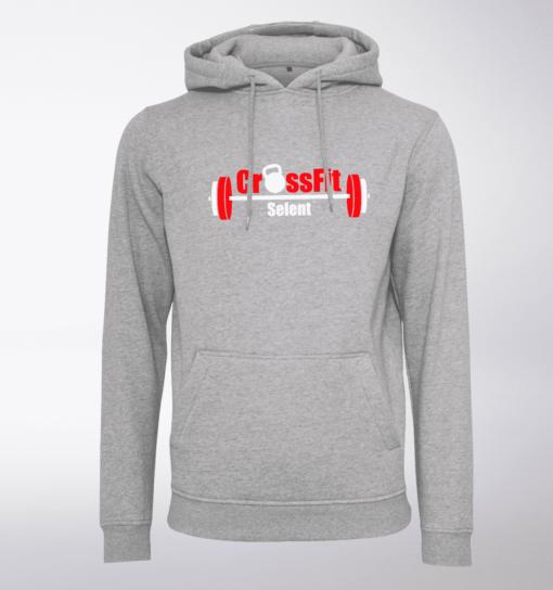 CrossFit®Selent UNISEX Hoody für Herren und Damen - Hellgrau - Logo hinten&vorne 1