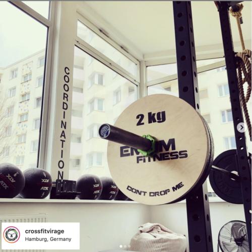 EMOM Fitness® - Technikplates/-scheiben für Gewichtheben oder als Erhöhung (1 Paar/2 Stück a 2kg) für 30 oder 50 mm Langhanteln 3