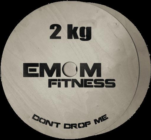 EMOM Fitness® - Technikplates/-scheiben für Gewichtheben oder als Erhöhung (1 Paar/2 Stück a 2kg) für 30 oder 50 mm Langhanteln 1