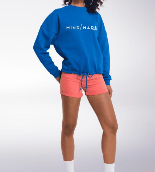 White - Mind/Made Damen Oversized Sweater - Blau 2