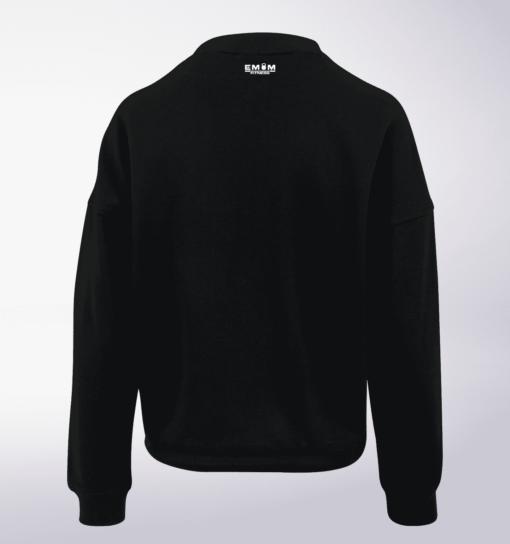 White - BarbellCoffee Damen Oversized Sweater - Schwarz 3