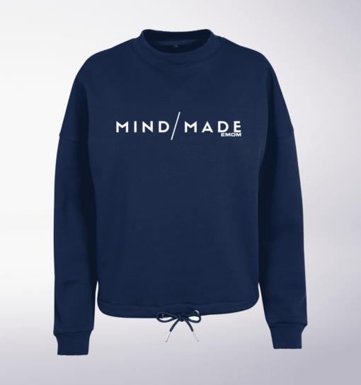 White - Mind/Made Damen Oversized Sweater - Light Navy 1