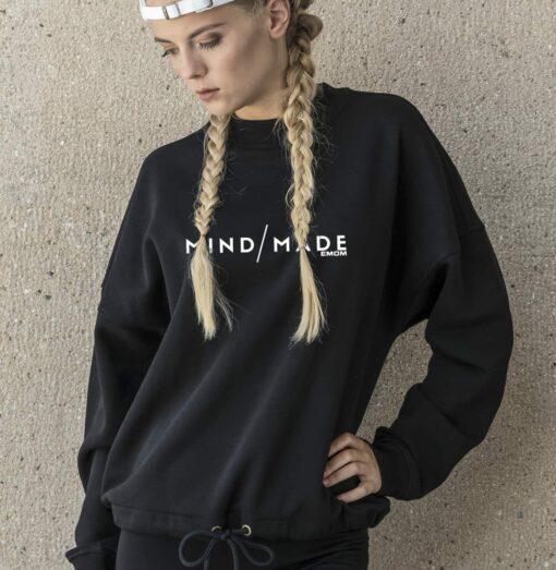 White - Mind/Made Damen Oversized Sweater - Light Navy 4