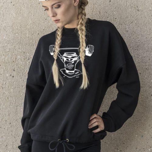 Black - Box-Mind-Life Damen Oversized Sweater - Hellgrau 8