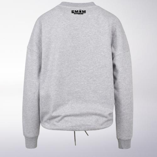 Black - Box-Mind-Life Damen Oversized Sweater - Hellgrau 6