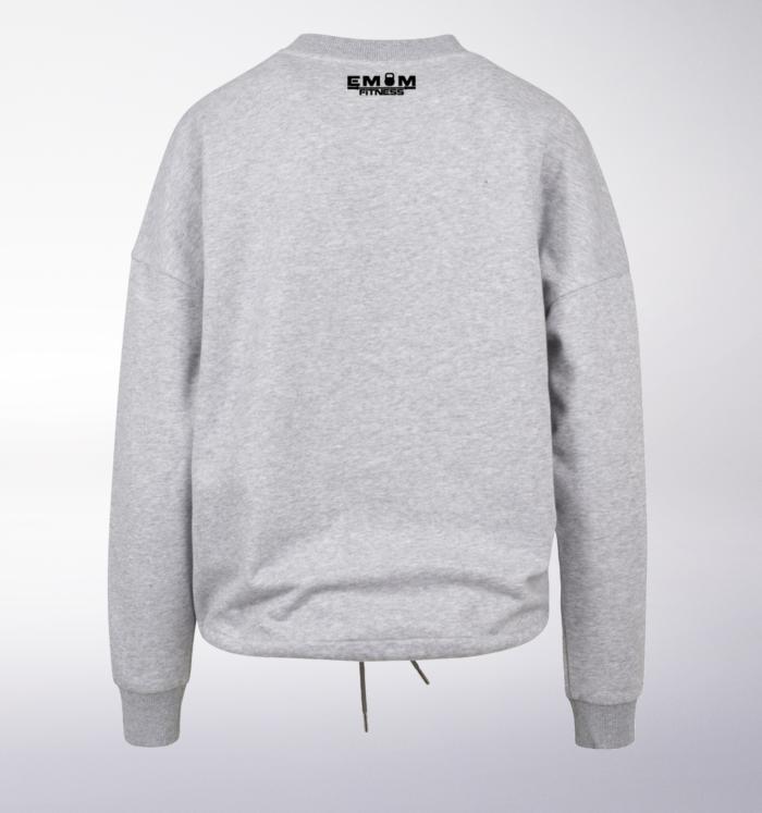 Black - Box-Mind-Life Damen Oversized Sweater - Hellgrau 2