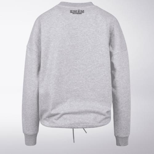 White/Black - BarbellCoffee Damen Oversized Sweater - Hellgrau 5