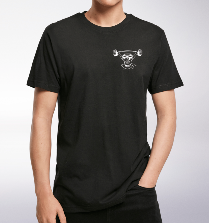 White Barbell & Coffee T-Shirt Herren 1