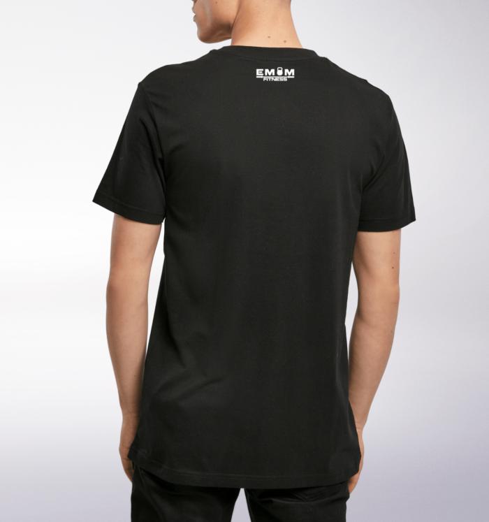 White Barbell & Coffee T-Shirt Herren 2