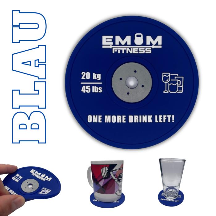EMOM Fitness® - Untersetzer / Coaster im Barbell Plate - Design - Einzeln oder auch im Set GRATIS SCHLÜSSELANHÄNGER! 3